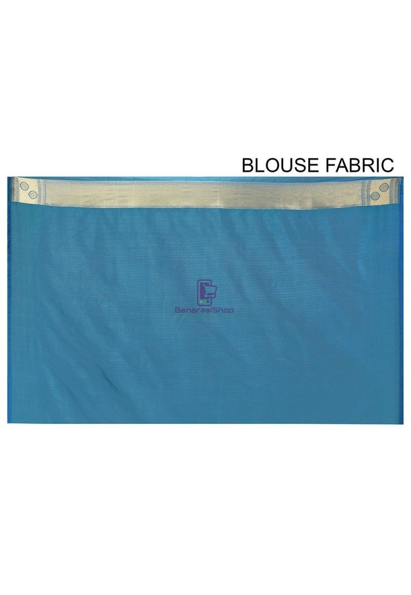Banarasi Saree in Teal Blue 3