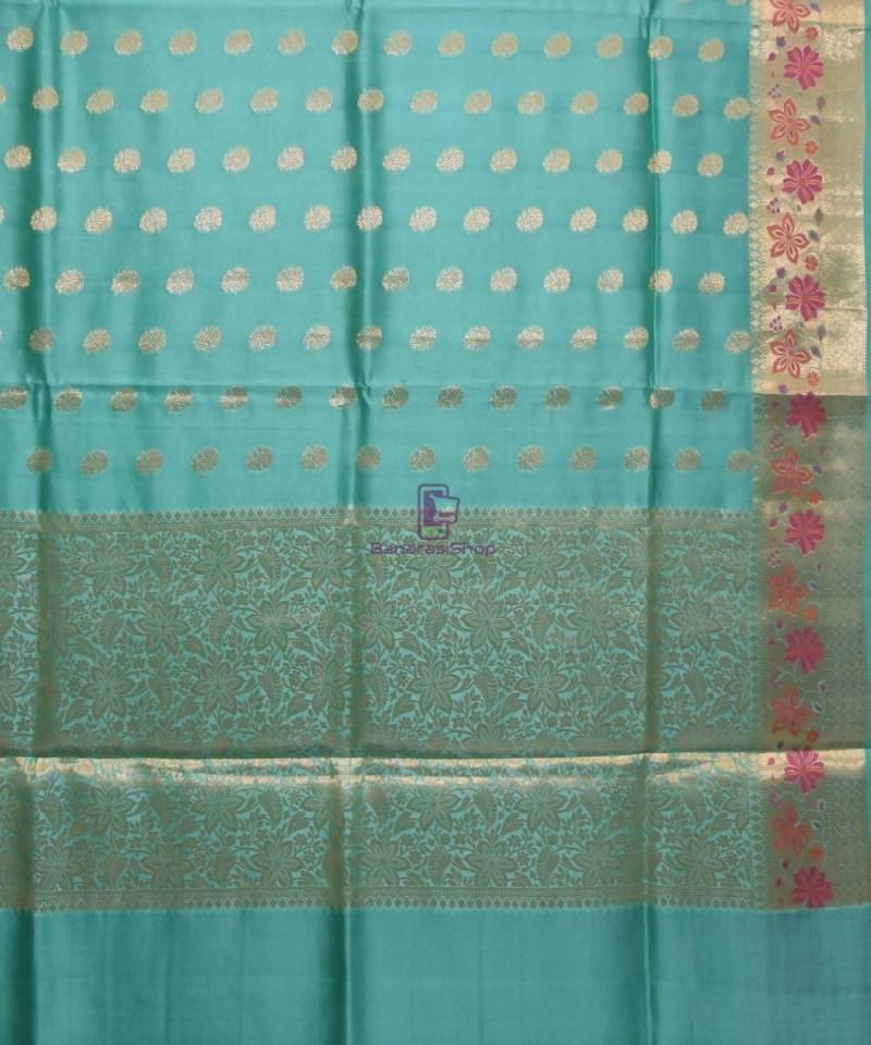 Pure Woven Banarasi Dupion Silk Saree with Unstitched Blouse Fabric 2