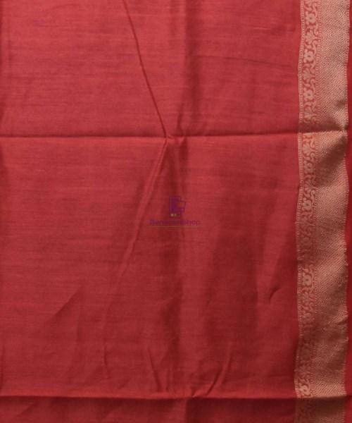 Woven Pure Muga Silk Banarasi Saree in Black 7