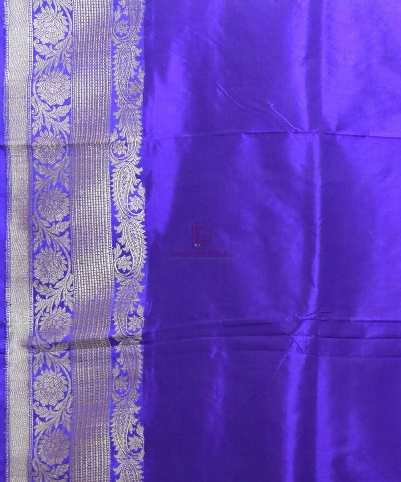 Banarasi Pure Katan Silk Handloom Peach Pink Saree 4