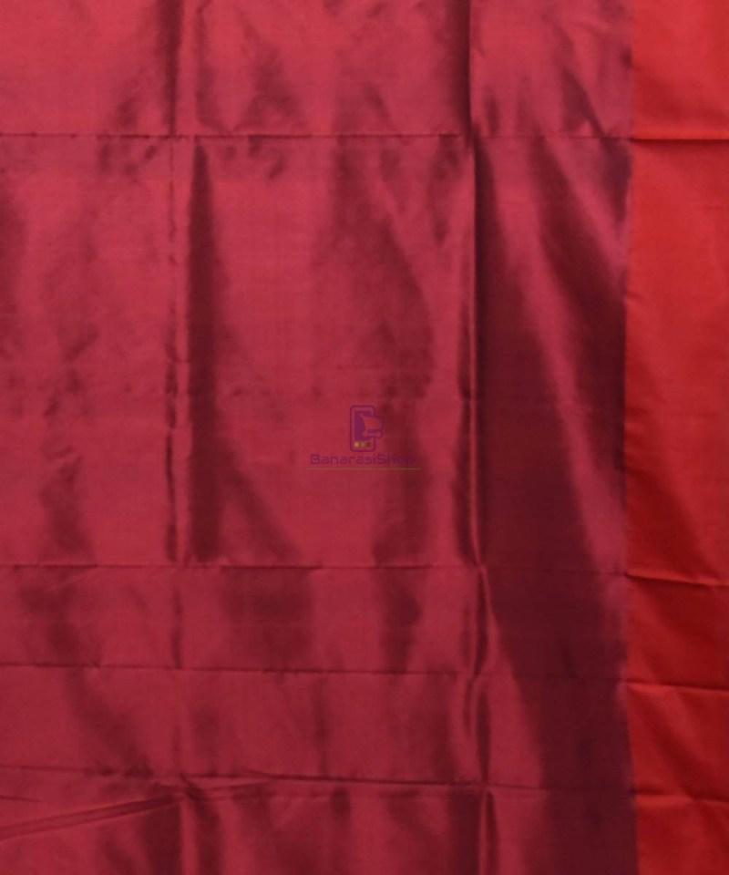Banarasi Pure Katan Silk Handloom Navy Blue Saree 4