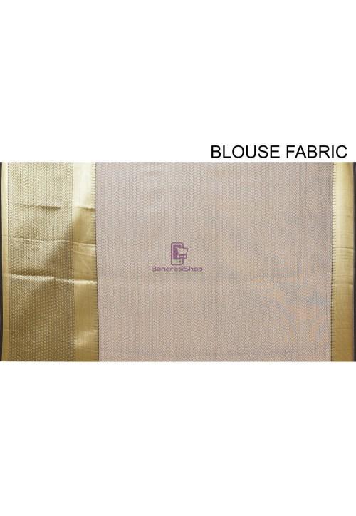 Woven Cotton Silk Saree in Black 7