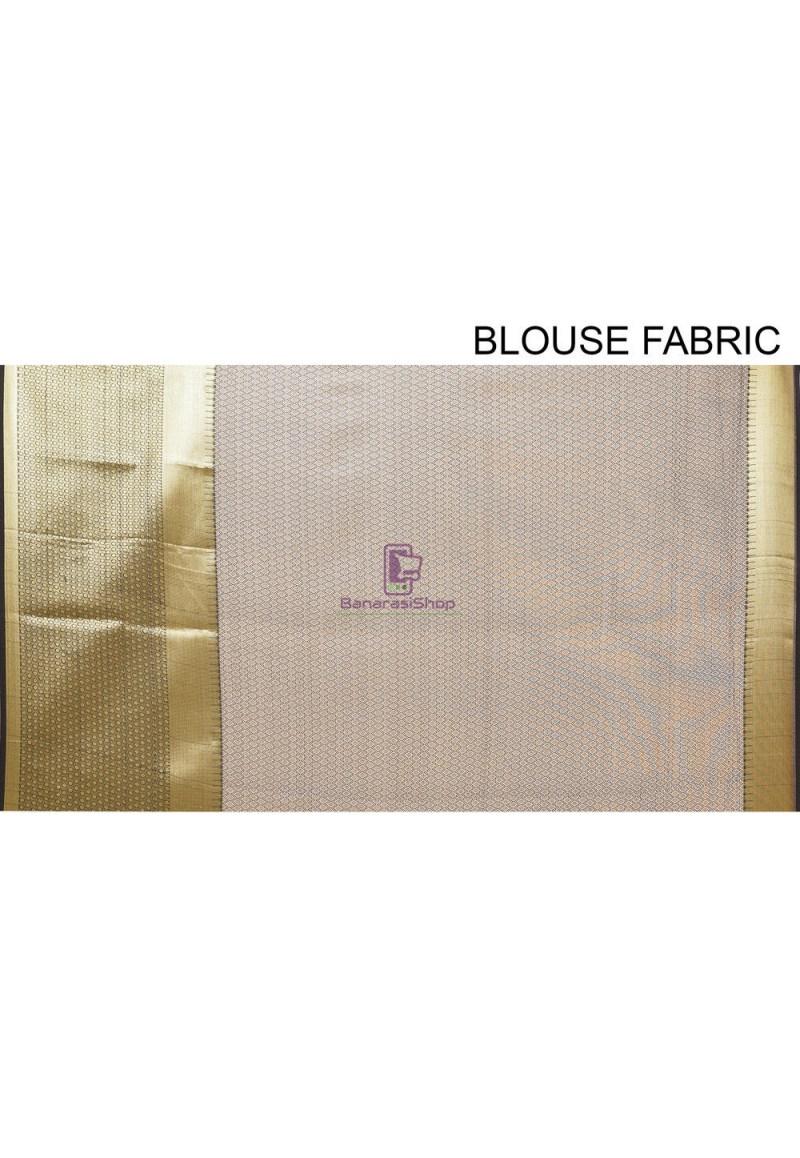 Woven Cotton Silk Saree in Black 4