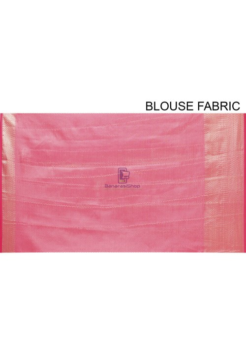 Woven Cotton Silk Saree in Fuchsia 7