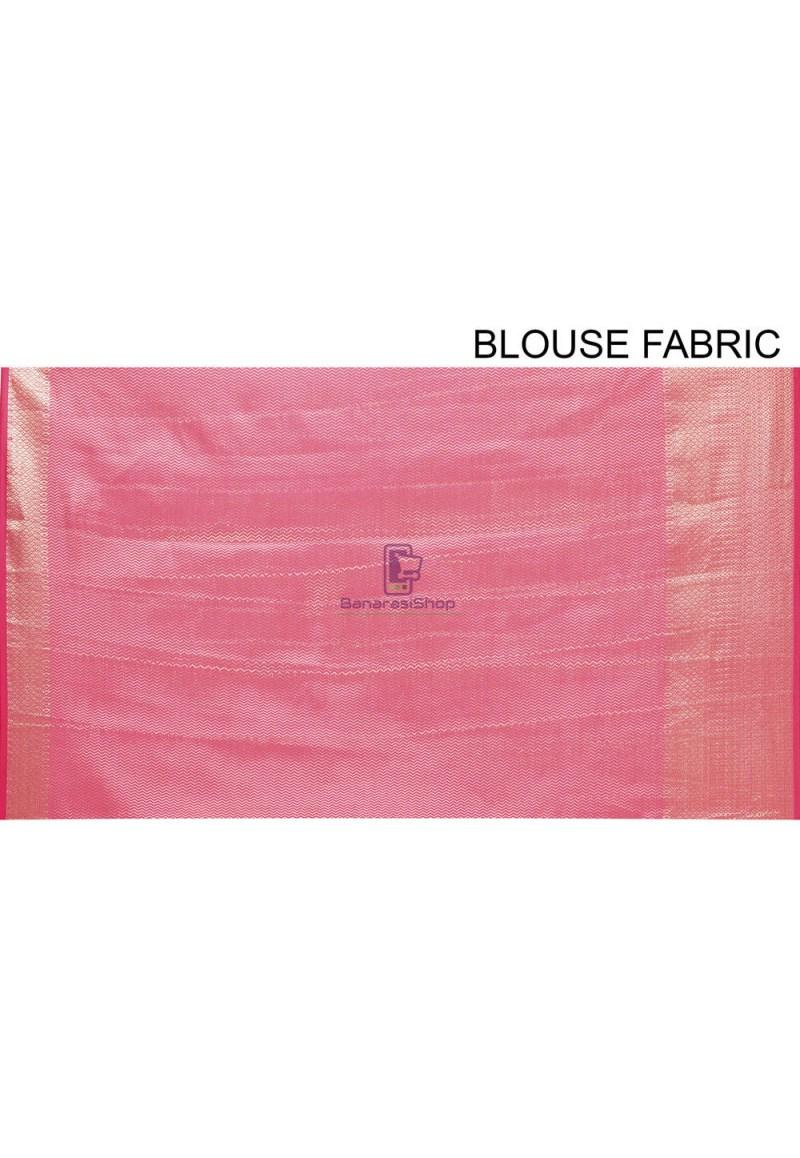 Woven Cotton Silk Saree in Fuchsia 4