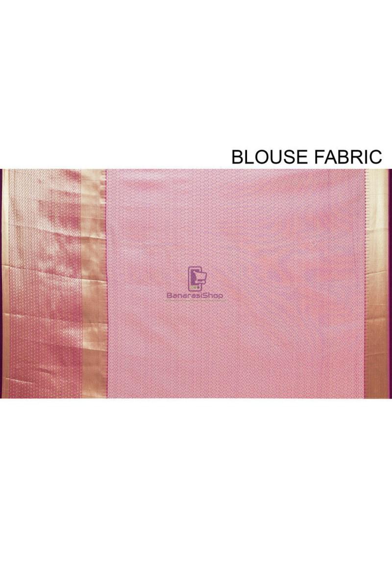 Woven Cotton Silk Saree in Purple 4