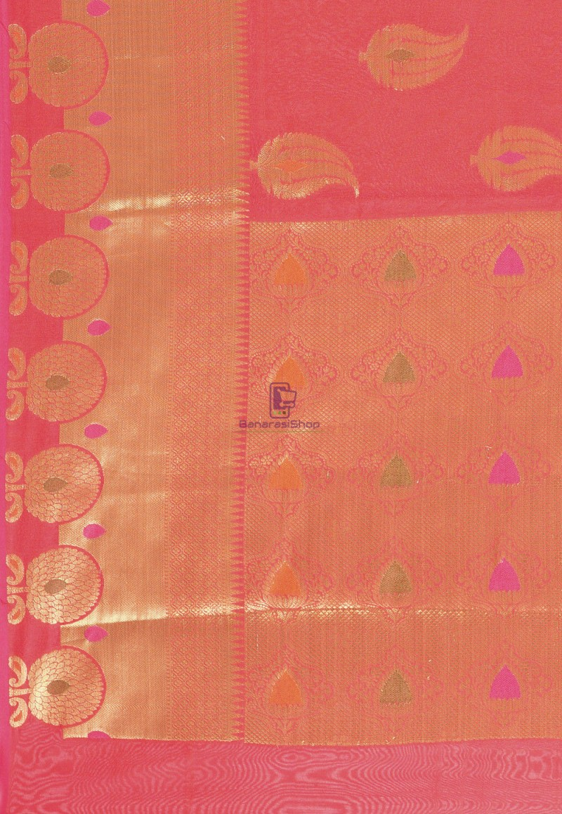 Woven Cotton Silk Saree in Red 3