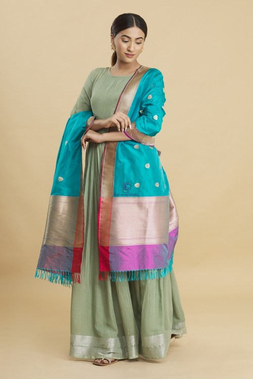 Banarasi Handloom Katan Silk Dupatta 7