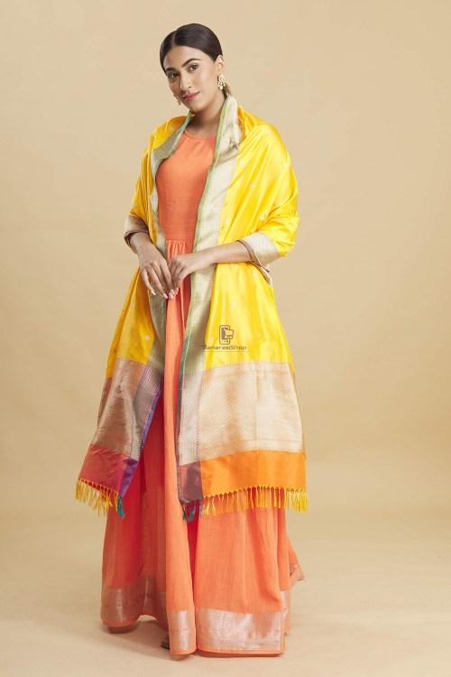 Banarasi Handloom Katan Silk Dupatta 8