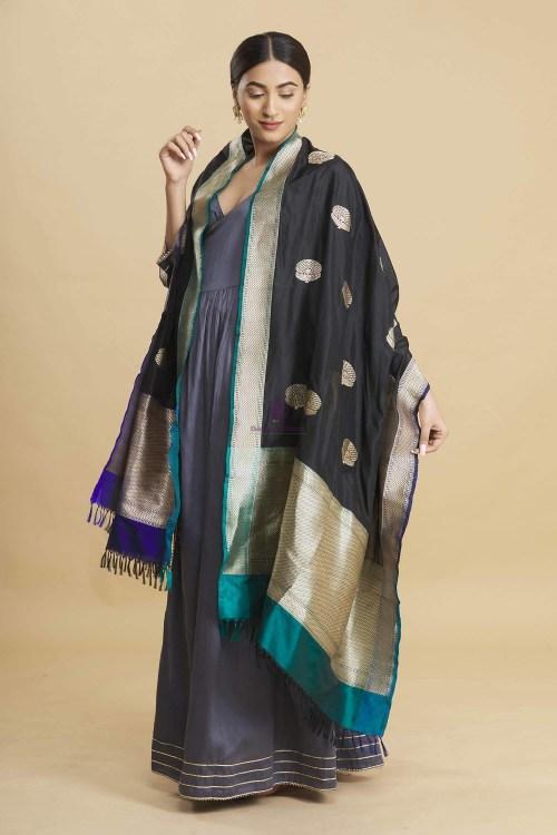 Banarasi Handloom Katan Silk Dupatta 10