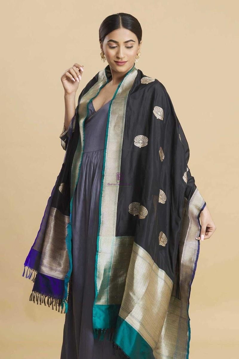 Banarasi Handloom Katan Silk Dupatta 4