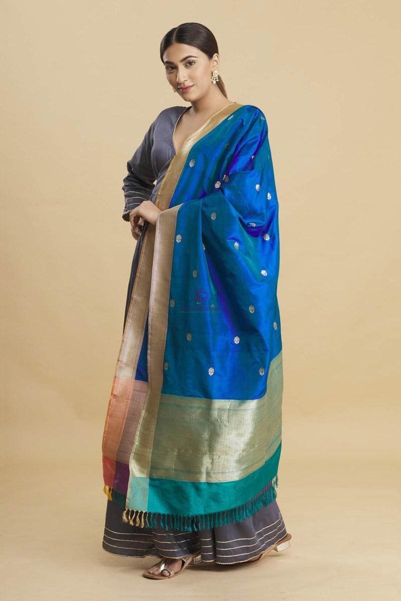 Banarasi Handloom Katan Silk Dupatta 2