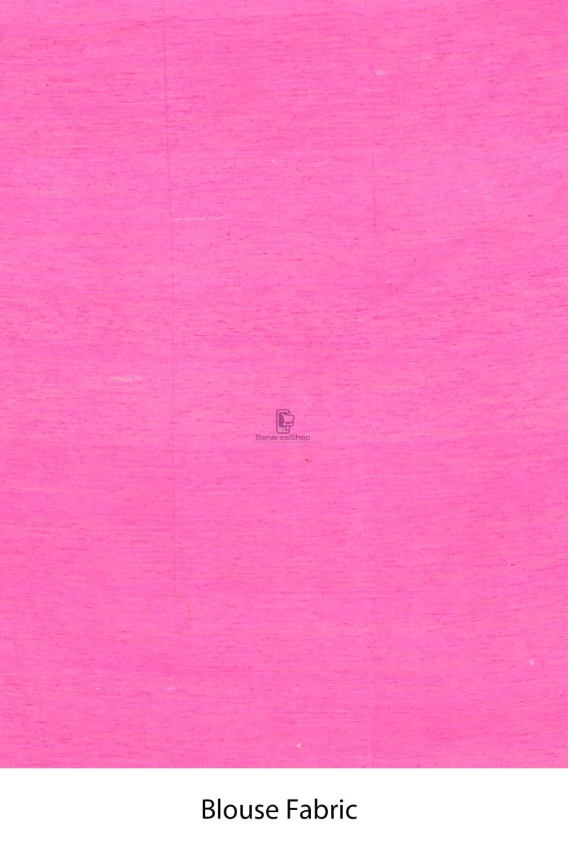 Handloom Dupion Silk Saree with Running Blouse Fabric 4
