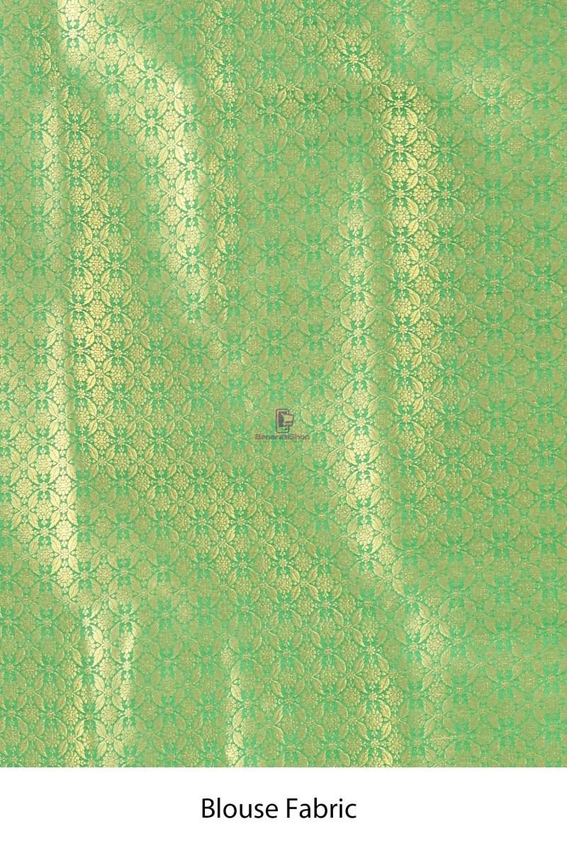 Banarasi Silk Minedar Saree with Running Blouse Fabric 4