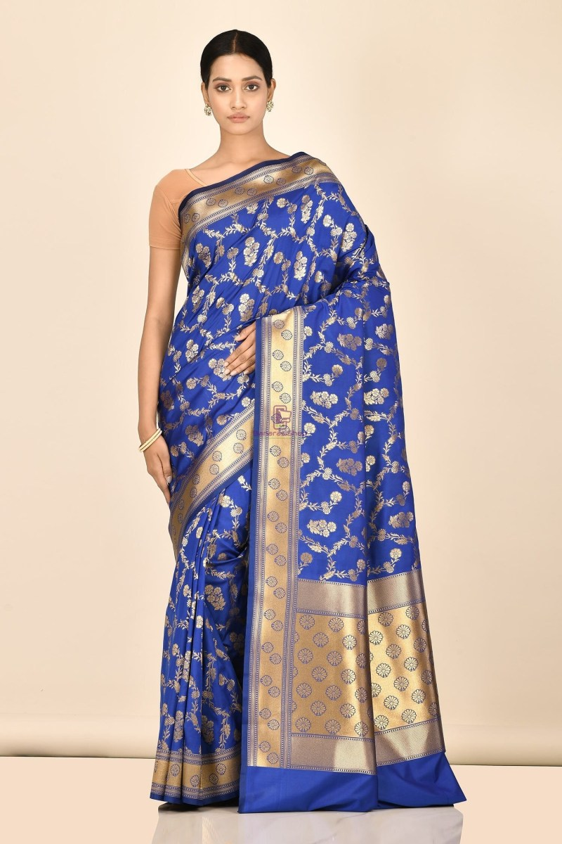Banarasi Silk Saree with Running Blouse Fabric 1