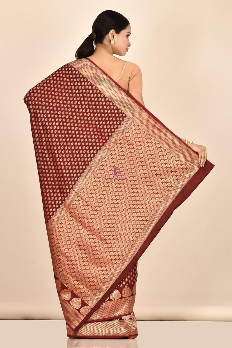 Handloom Uppada Banarasi Katan Silk Saree with Running Blouse Fabric 3