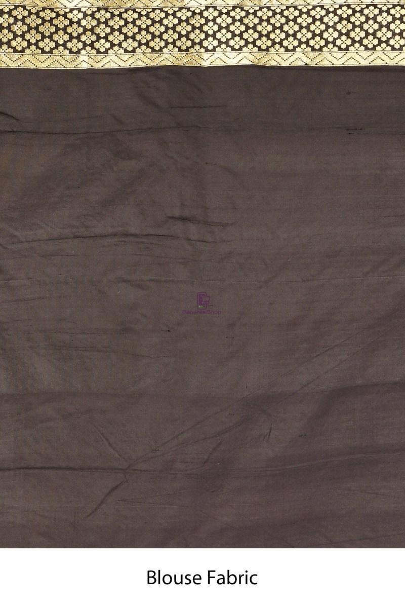Handloom Uppada Banarasi Katan Silk Saree with Running Blouse Fabric 4