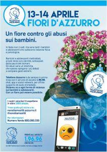 """Fiori d'Azzurro - Telefono Azzurro @ Corso Libertà a Bolzano, di fronte alla """"Farmacia Ferrari"""""""