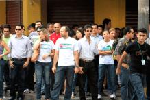 Ato na matriz do Banco da Amazônia reuniu cerca de 300 trabalhadores