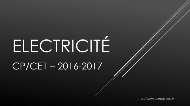Bannière de la séquence sur l'électricité