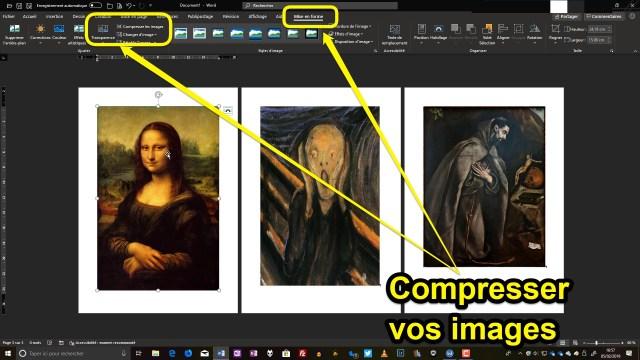 Illustration de l'article expliquant comment compresser et rogner les images dans les documents créés/modfifiées avec la suite Microsoft Office