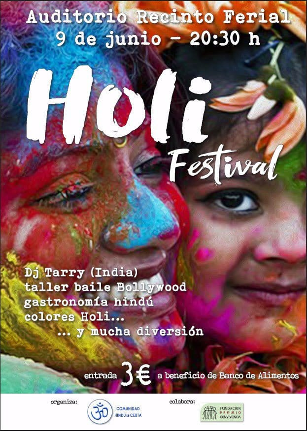 Festival Holi a favor del BA Ceuta