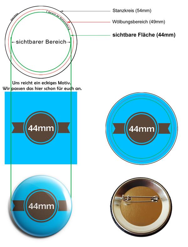 44mm Buttons Vorlage