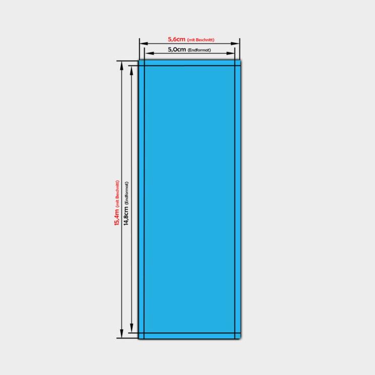 aufkleber bestellen din a7-lang 14,8 x 5,0 cm