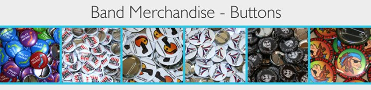 band merchandise buttons