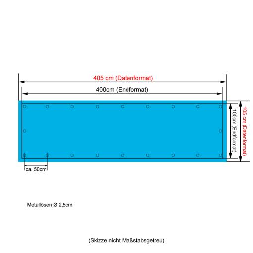 1x4m PVC-Banner drucken lassen