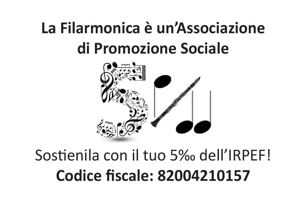 Codice Fiscale per donare il 5 per mille alla Filarmonica