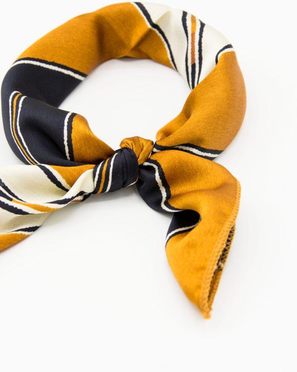 bandana ocre noir et beige