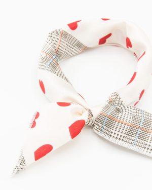 bandana vintage à taches rouges pour femme