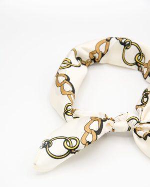 bandana blanc à chaînes
