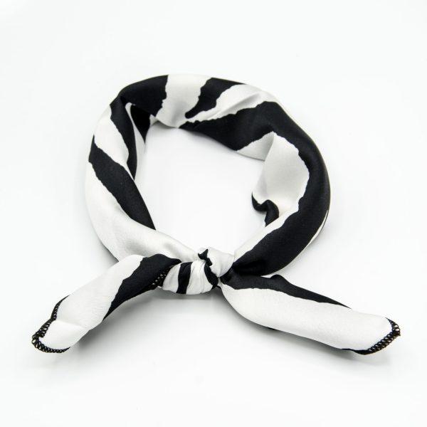 bandana foulard blanc et noir