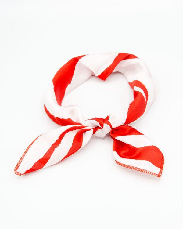 Bandana foulard rouge et blanc