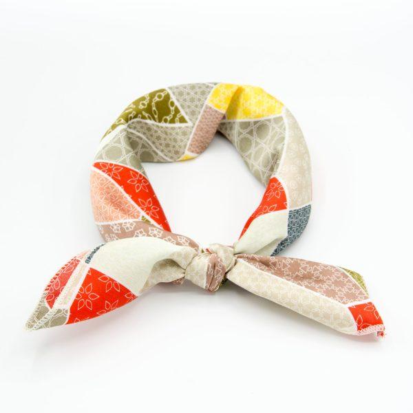 bandana géométrique multicolore