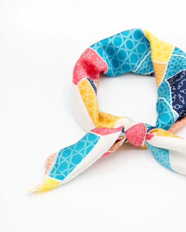 bandana pour femme géométrique multicolore