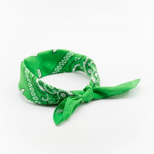 bandana vert à motif paisley pour homme
