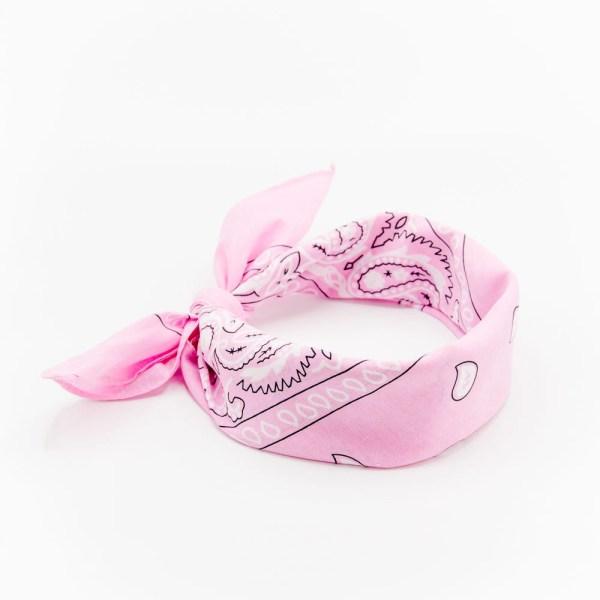 bandana rose clair pour femme à motif cachemire