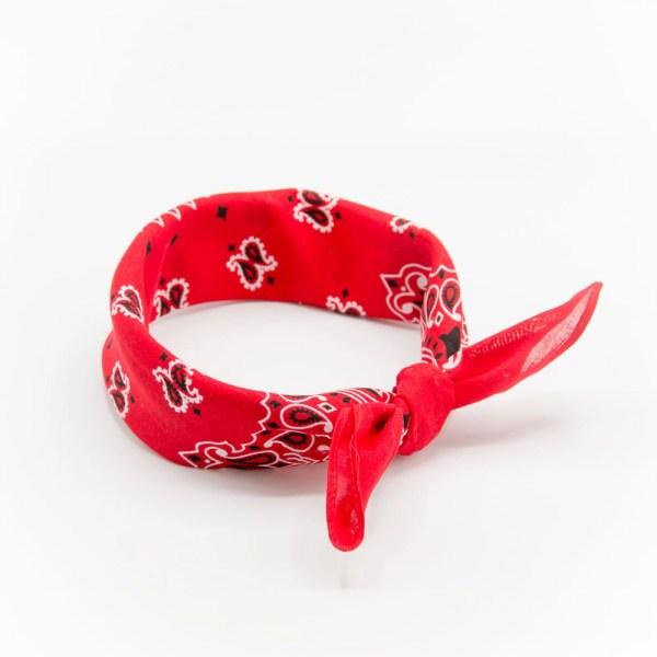 bandana rouge à motif paisley pour homme