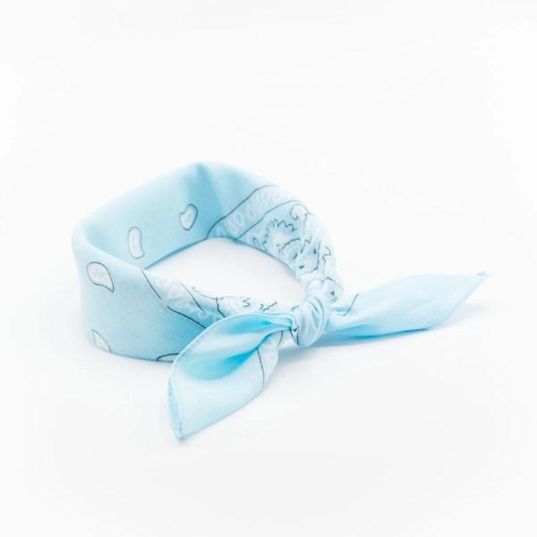 bandana homme ou femme classique paisley bleu clair