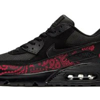 SF 49ers Red Bandana Nike Air Max Shoes Black