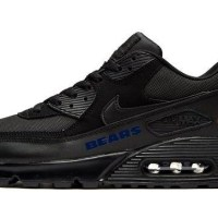 Chicago Bears Blue Custom Nike Air Max Shoes Black