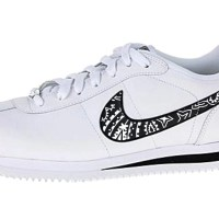 Black Bandana Custom Nike Cortez Shoes LWB Swoosh