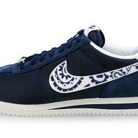 LA Dodgers Navy Bandana Custom Nike Cortez Shoes Toes NNW