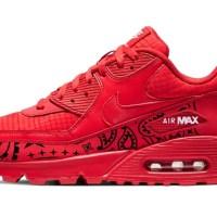 Black Bandana Custom Nike Air Max Shoes Red