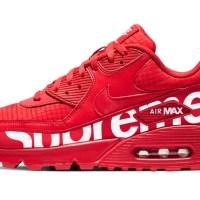 Supreme Custom Nike Air Max Shoes Red Guard