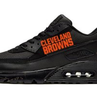 Cleveland Browns Brown Splat Custom Nike Air Max Shoes Black