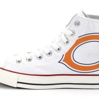 Chicago Bears Custom Converse Shoes White High